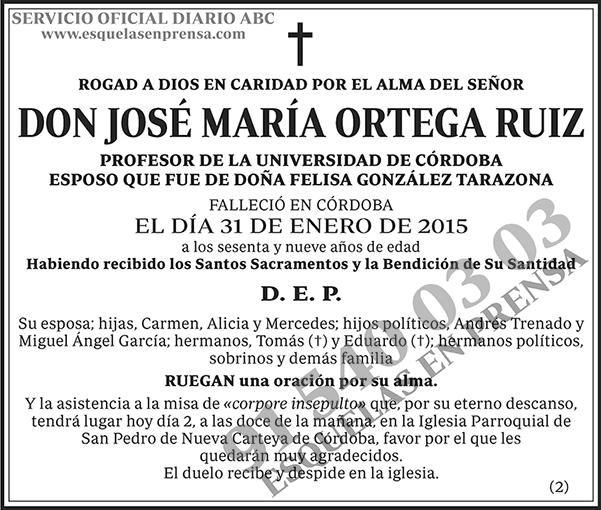 José María Ortega Ruiz